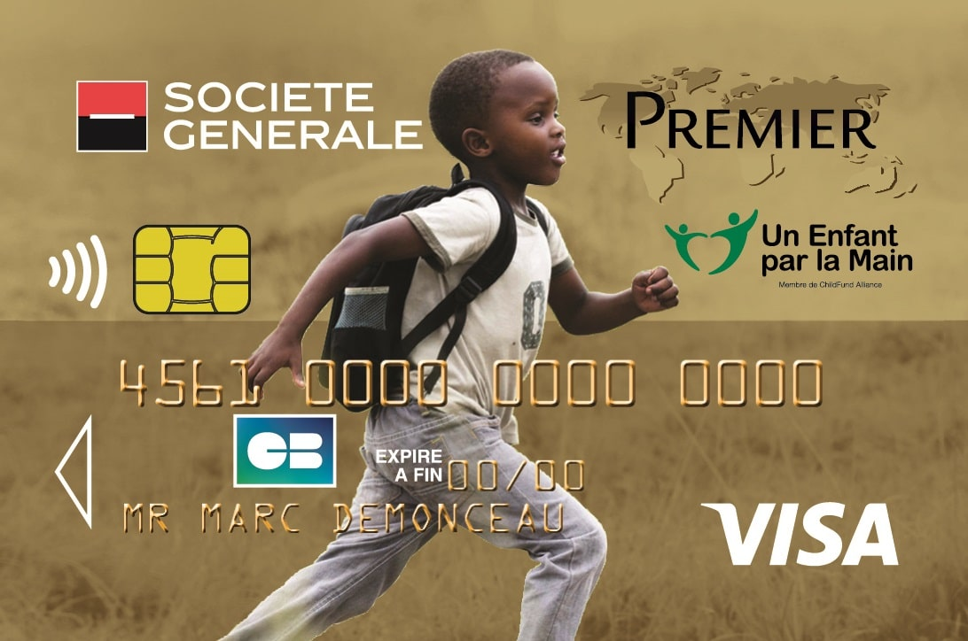 carte bleue solidaire un enfant par la main