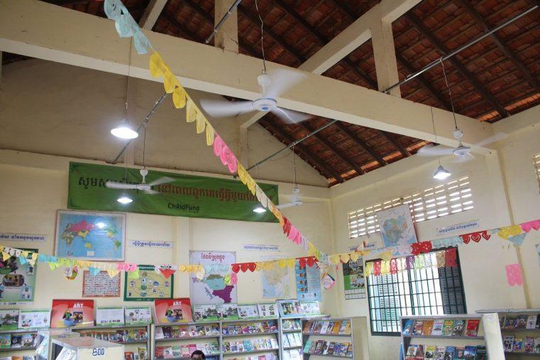 L'énergie solaire pour l'école et la bibliothèque de Beong Kieb