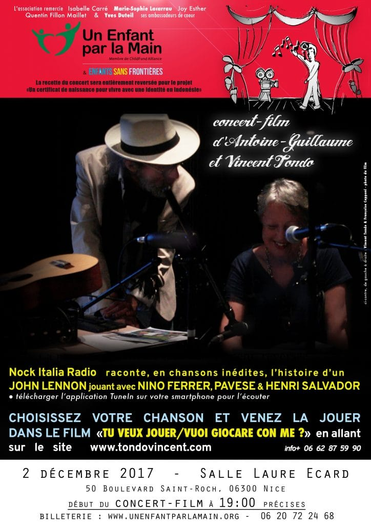 Film-concert à Nice avec Antoine-Guillaume et Vincent Tondo !