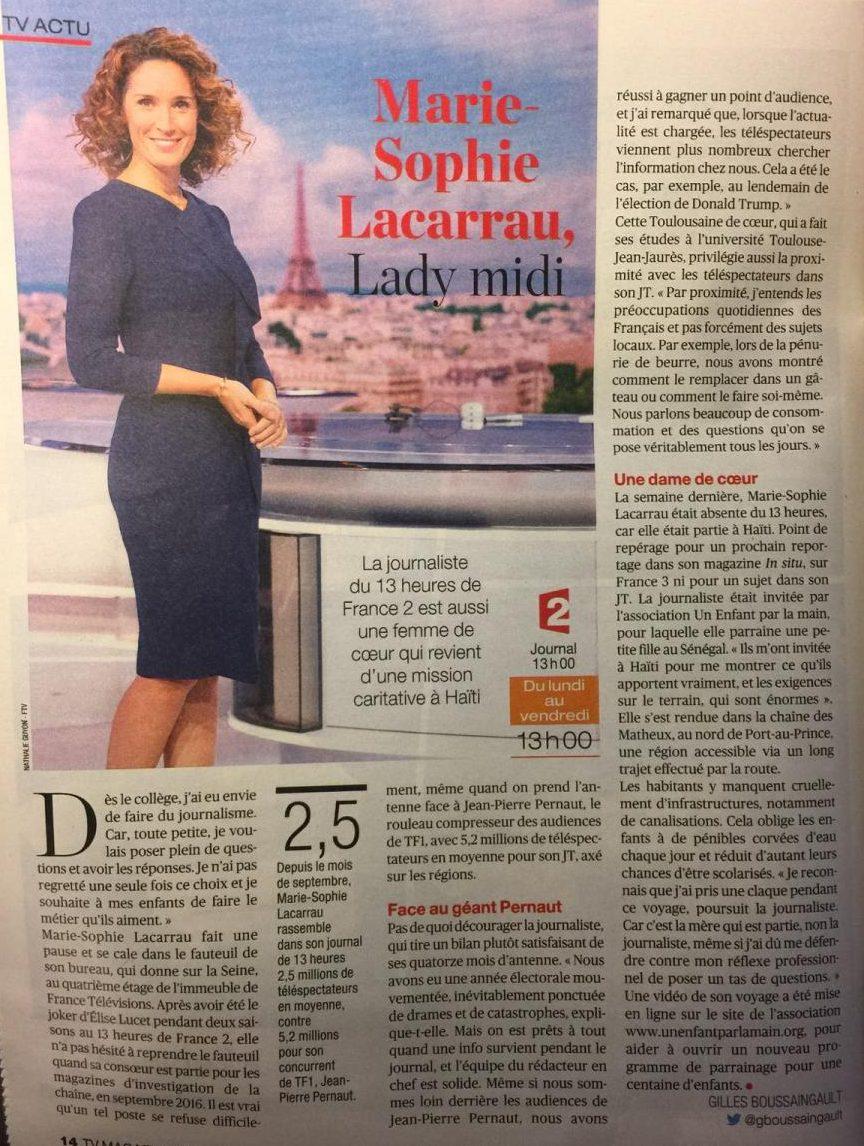 Marie-Sophie Lacarrau en mission à Haïti !