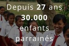 depuis 27 ans 30000 enfants parrainés