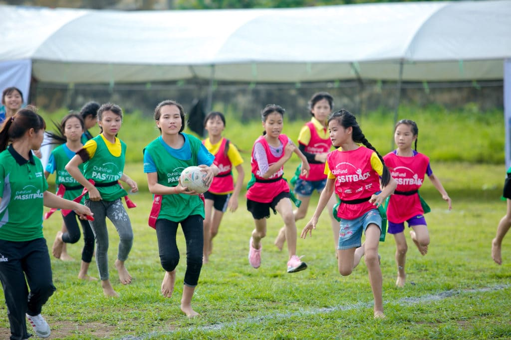 COUPE DU MONDE DE RUGBY 2019 : World Rugby s'engage aux côtés de ChildFund 'Pass it back' pour améliorer la vie de 20 000 enfants en Asie grâce au sport.