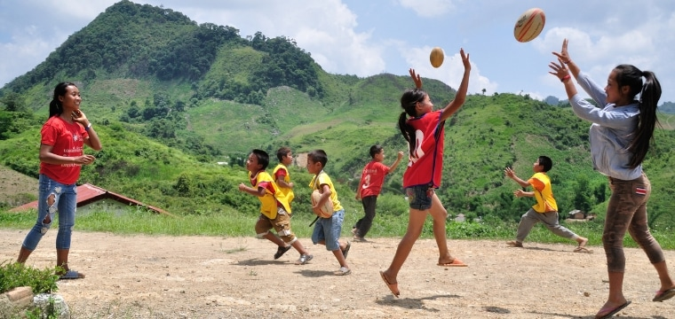 ChildFund Pass It Back : un programme qui utilise le sport en faveur de l'éducation