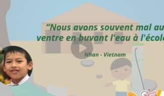 Un filtre à eau pour une école au Vietnam