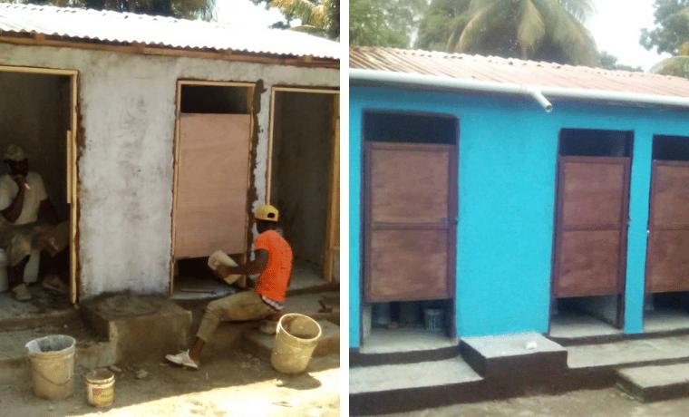 Reconstruction du bloc sanitaire pour améliorer les conditions d'hygiène des enfants à l'école Bois Caïman