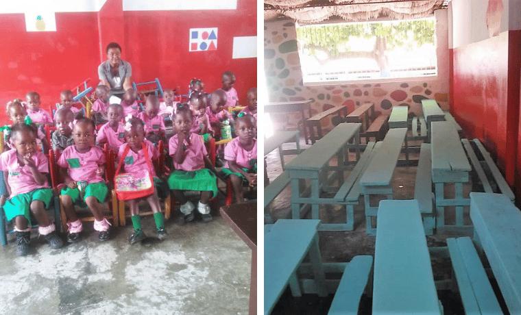 Réhabilitation des salles de classe à l'école Denise Lécuyer, les enfants peuvent apprendre en toute sécurité