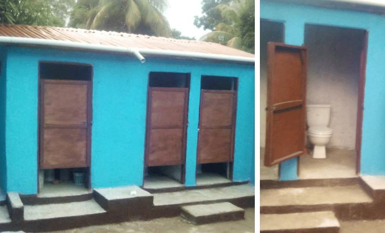 des nouvelles des sanitaires pour lecole de bois caiman