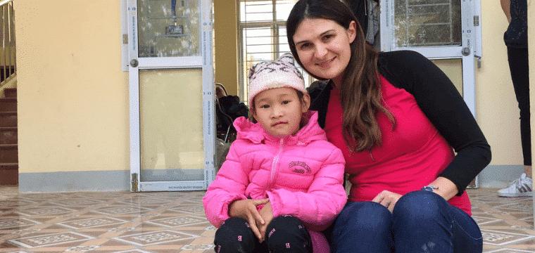 Delphine, marraine au Vietnam