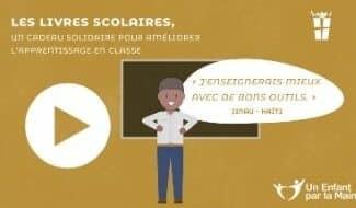Un kit de manuels scolaires pour enseigner dans les écoles en Haïti