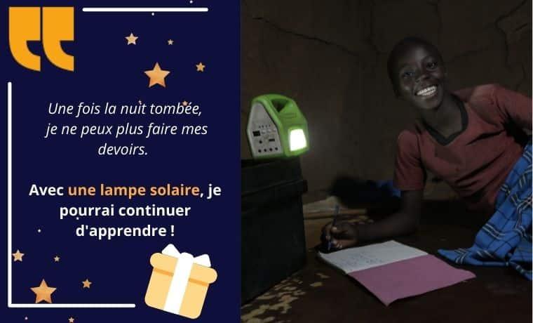 Une lampe solaire pour faciliter l'apprentissage à la maison au Sénégal