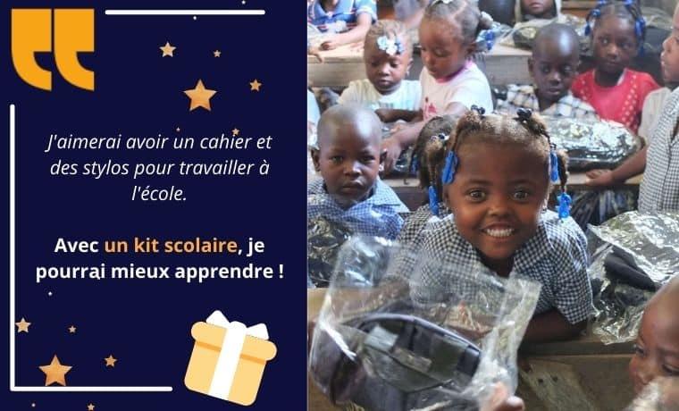 Un kit scolaire pour une éducation de qualité en Haïti