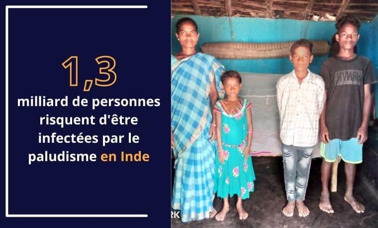 Une moustiquaire et une couverture pour faire face au grand froid en Inde