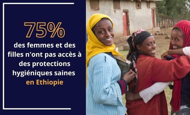 Des protections hygiéniques pour poursuivre sa scolarité en Ethiopie