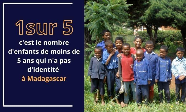 Un certificat de naissance pour avoir une identité à Madagascar
